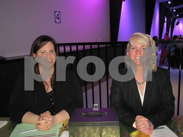 Heather Strachan and Laurie Lovejoy greeted those in attendance at the 'Kid's Choice Awards' at Fort Frenzy.