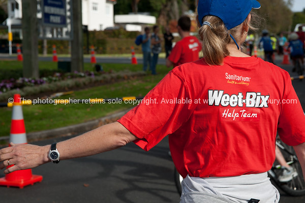 """Weetbix Tryathlon at Tauranga's  Memorial Park.Helper shows the way. ALSO SEE; <a href=""""http://www.blurb.com/b/3811392-tauranga"""">http://www.blurb.com/b/3811392-tauranga</a>"""
