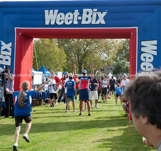 Weetbix Kids Tryathlon, 2012,Tauranga's  Memorial Park. Finishing line. ALSO SEE; http://www.blurb.com/b/3811392-tauranga