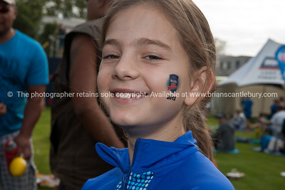 Weetbix kids tryathalon contestant Brooke with event tattoo on side of face. Tauranga's  Memorial Park. ALSO SEE; http://www.blurb.com/b/3811392-tauranga