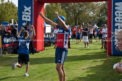 Weetbix Kids Tryathlon, 2012,Tauranga's  Memorial Park.Finishing line. ALSO SEE; http://www.blurb.com/b/3811392-tauranga