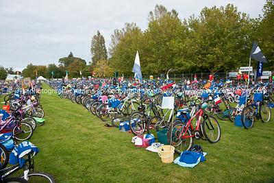 Weetbix Kids Tryathlon, 2012,Tauranga's  Memorial Park.Bicycles in the bike transition area. ALSO SEE; http://www.blurb.com/b/3811392-tauranga