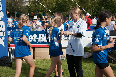 Weetbix Kids Tryathlon, 2012,Tauranga's  Memorial Park. Finishing and receiving the medal. ALSO SEE; http://www.blurb.com/b/3811392-tauranga