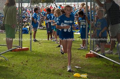 Weetbix Kids Tryathlon, 2012,Tauranga's  Memorial Park. Starting the running leg. ALSO SEE; http://www.blurb.com/b/3811392-tauranga
