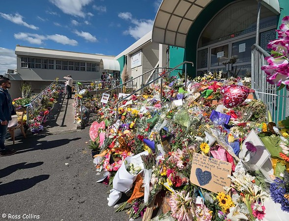 Floral Tributes at Kilbirnie Mosque, 20 March 2019