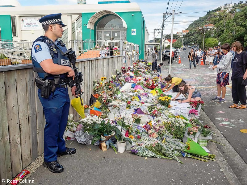 Floral Tributes at Kilbirnie Mosque, 16 March 2019