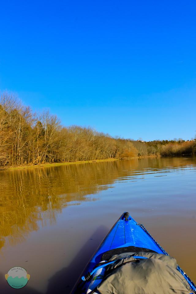 Kincaid<br /> While paddling on Kincaid Lake on a beautiful day.