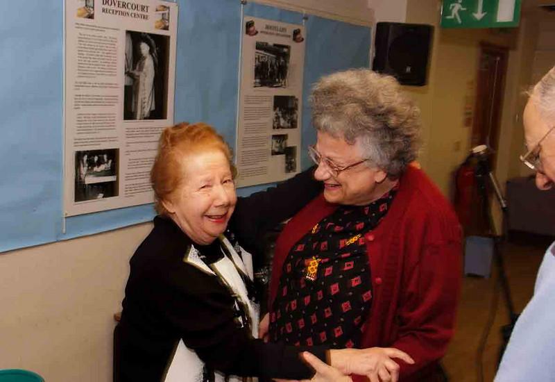 Kindertransport Reunion Founder: Bertha Leverton with former Kinder, Ruth Fallman