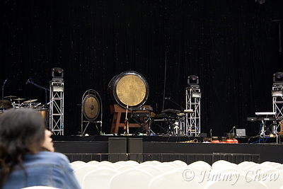 Taiko drum on the stage.