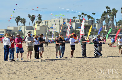 Kite Party group in Huntington Beach
