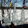 Ice sculpture of the Half Moon.