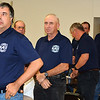 Debbie Blank | The Herald-Tribune<br /> Shawn Glaub (from left) and Ed Scheele were among a handful of Morris firefighters who attended the event.