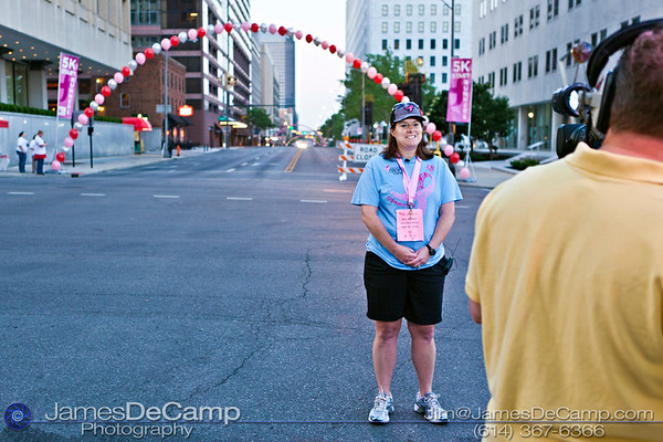 The 20th annual Komen Columbus Race for the Cure photographed Saturday May 19, 2012 in downtown Columbus.. An estimated 44,000 people participated in the 2012 Susan G. Komen Race for the Cure® in Columbus, the second largest series of 5K runs/fitness walks in the world, which raises significant funds and awareness for the fight against breast cancer, celebrates breast cancer survivorship and honors those who have lost their battle with the disease. (© James D. DeCamp | http://www.JamesDeCamp.com | 614-367-6366)