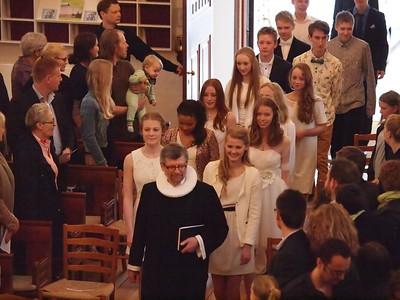 Konfirmation 26.04.2013 Esajas Kirken Nina Terese Rask er i linsens fokus... Tillykke fra fotografen ;) Foto: Martin Bager.