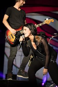 Stefanie Kloss und Johannes Stolle von Silbermond, Konzert in der Wiener Stadthalle am 18. Mai 2016