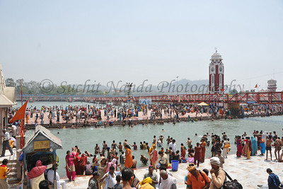 Kumbh Mela is the biggest religious gatherings on the planet which takes places on the banks of the river Ganga. The number of pilgrims this year is expected to exceed around five million since the first day Jan 14 till the time it concludes on April 28, 2010. Haridwar, Uttarakhand. North India.