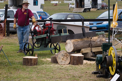 Mechanical saw Agricultural and Pastoral Show Kumeu New Zealand - 11 Mar 2007