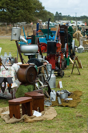 Antique farm implements in working order Agricultural and Pastoral Show Kumeu New Zealand - 11 Mar 2007
