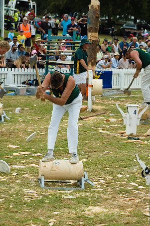 On the job Wood cutting competition Agricultural and Pastoral Show Kumeu New Zealand - 11 Mar 2007