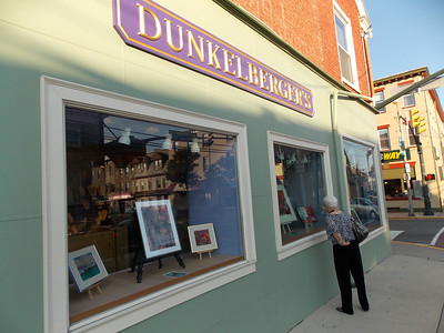 Dianne Dockery's art work on display at Dunkelberger's in Kutztown for Artists' Harvest Oct. 4. Patriot photo by Lisa Mitchell