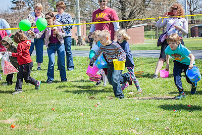 Kutztown Optimist Club hosted its annual Easter Egg Hunt at Kutztown Park April 19. Patriot photos by Roxanne Richardson