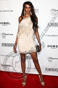 WEST HOLLYWOOD, CA - JUNE 14:  Actress Judi Shekoni arrives at Los Angeles Confidential Magazine's summer issue release party at Palihouse Holloway on June 14, 2012 in West Hollywood, California.  (Photo by Chelsea Lauren/WireImage)