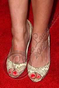 WEST HOLLYWOOD, CA - JUNE 14:  Television personality Ashlan Gorse (shoe detail) arrives at Los Angeles Confidential Magazine's summer issue release party at Palihouse Holloway on June 14, 2012 in West Hollywood, California.  (Photo by Chelsea Lauren/WireImage)