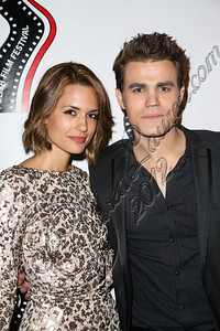 HOLLYWOOD, CA - OCTOBER 09:  Actors Torrey DeVitto (L) and Paul Wesley arrive at the 13th annual Polish film festival at American Cinematheque's Egyptian Theatre on October 9, 2012 in Hollywood, California.  (Photo by Chelsea Lauren/WireImage)