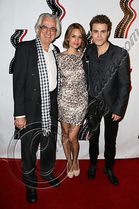 HOLLYWOOD, CA - OCTOBER 09:  (L-R) Executive director of the Polish Film Festival Vladek Juszkiewicz, actress Torrey DeVitto and actor Paul Wesley arrive at the 13th annual Polish film festival at American Cinematheque's Egyptian Theatre on October 9, 2012 in Hollywood, California.  (Photo by Chelsea Lauren/WireImage)