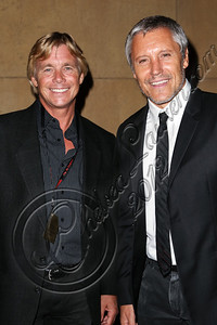 HOLLYWOOD, CA - OCTOBER 09:  Actors Christopher Atkins (L) and Max Ryan arrive at the 13th annual Polish film festival at American Cinematheque's Egyptian Theatre on October 9, 2012 in Hollywood, California.  (Photo by Chelsea Lauren/WireImage)
