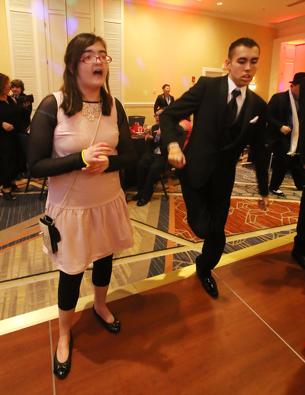 . LABBB Collaborative\'s Prom at the Boston Marriott Burlington. Stephanie MacLean, 16, of Waltham, and Michael Bono, 17, of Tewksbury. (SUN/Julia Malakie)