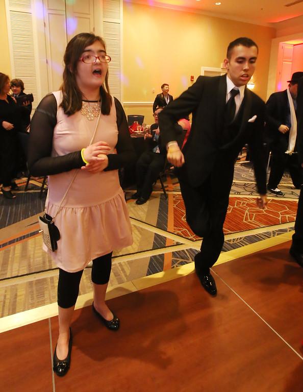 . LABBB Collaborative\'s Prom at the Boston Marriott Burlington. Stephanie MacLean, 16, of Waltham, and Michael Bono, 17, of Tewksbury. (SUN/Julia Malakie)