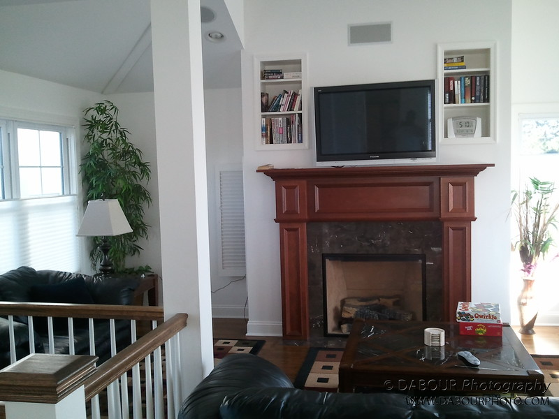 Gas fireplace on third floor living room area - scross from dining room and kitchen