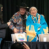 Clyde Hall Giving Randy Burns, A Founder of Gay American Indians, a blanket