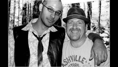 Featured artist Johnathan Ball & gallery owner Brian Liss ... September 11, 2010