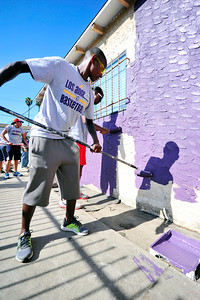 HABITAT FOR HUMANITY HOME OF ESTER GLAZE 222 E. 76TH STREET LOS ANGELES CA THE LOS ANGELES SPARKS COME TO HELP REHAB THE HOME ON AUGUST 22, 2013 Valerie Goodloe