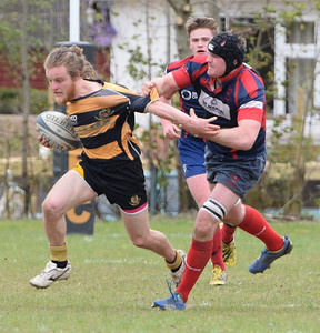 Euan Larter of LRFC tries to make a move. PICTURE ALBA.PHOTOS