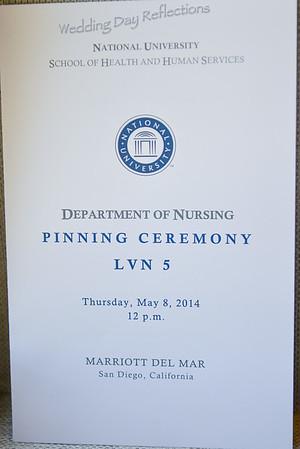 LVN Pinning Ceremony May 2014