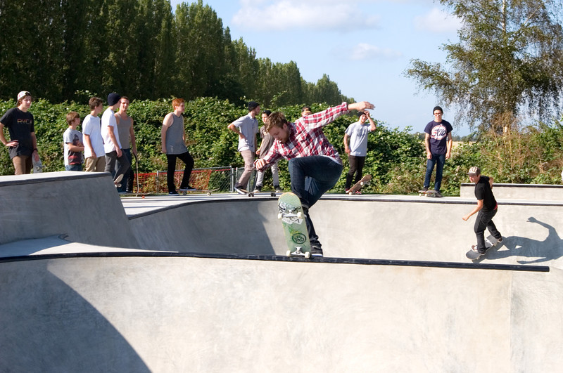 Opening day at the La Conner Skate Park on 31 August 2011.