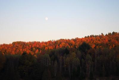 Sunset under the Moon
