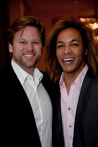 Rich Amons and Paul Wharton. Paul's is a fashion, modeling and lifestyle expert. Rich is the husband of Mary Amons.