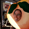 "What a Peach!<br />  Cassie Lee plays the peach when asking if people wanted to be photographed as a peach at the festival.<br /> The annual Lafayette Peach Festival was held downtown on Saturday.<br />  For more photos and a video, go to  <a href=""http://www.dailycamera.com"">http://www.dailycamera.com</a>.<br /> Cliff Grassmick / August 22, 2009"