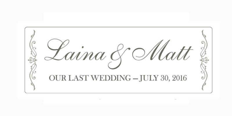 Laina and Matt's Last Wedding