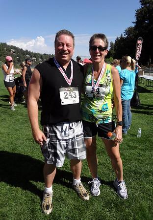 Lake Gregory 5K Charity Run & Strawberry Peak SBNF Firetower Hike, Crestline and Rimforest CA August 11, 2012
