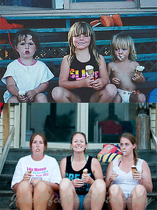 3 kids on the step 20yrs later 2012