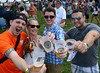 A group of friends give a toast as samples of brew are served during the Lansdale Beer Tasting Festival on Saturday June 28,2014. Photo by Mark C Psoras/The Reporter