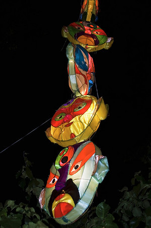 Hanging masks Lantern Festival Albert Park Auckland New Zealand - 2 Mar 2007