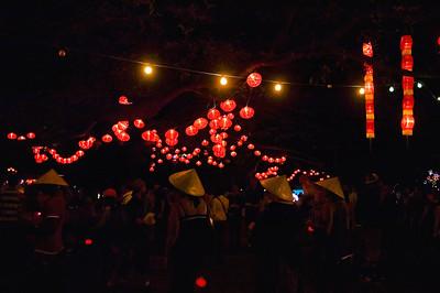 Hanging lanterns Lantern Festival Albert Park Auckland New Zealand - 2 Mar 2007