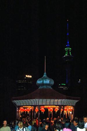 Band rotunda Lantern Festival Albert Park Auckland New Zealand - 2 Mar 2007