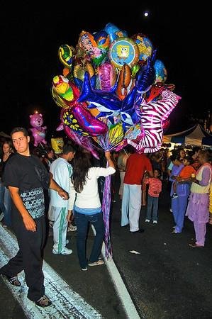 Flying balloons Lantern Festival Albert Park Auckland New Zealand - 2 Mar 2007